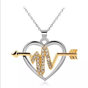 Jewelry - Heart ❤️ beat silver gold necklace arrow love
